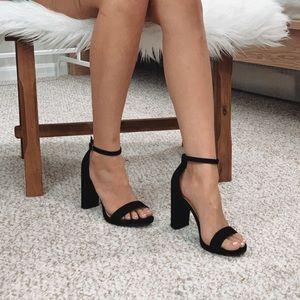 🆕 Taylor - Black Ankle Strap Heels